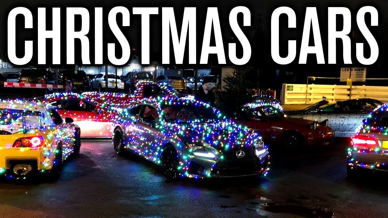 Wrapping Our Cars With Christmas Lights! - YouTube