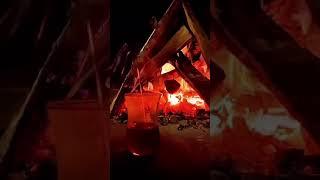 gece ateş başında çay snap ahmetkaya
