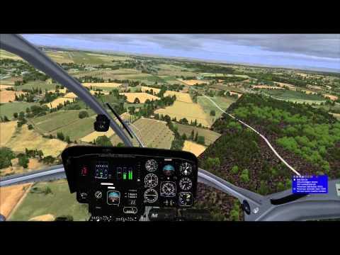 FSX MD902  維也納市區飛行+LOWW進場