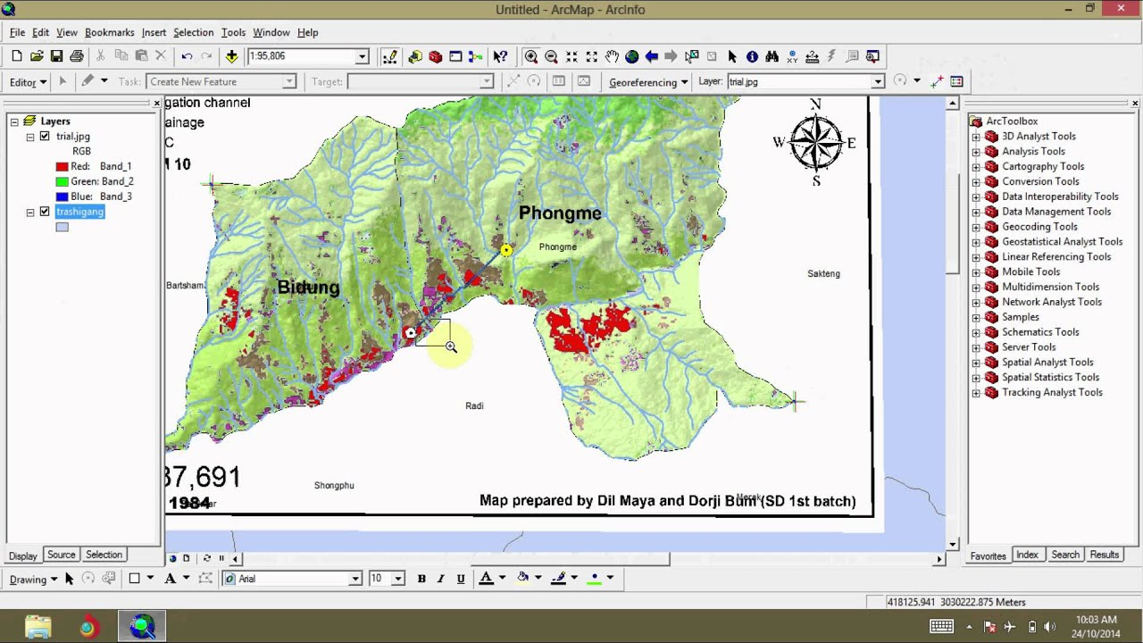Gis Tutorial Georeferening By Rubber Sheeting Youtube