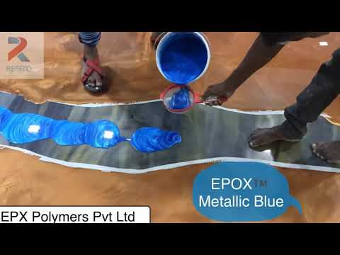 How to do Epoxy Metallic River Countertop and Flooring DIY