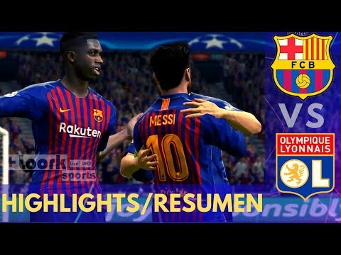 BARCELONA vs LYON - HIGHLIGHTS & GOALS / RESUMEN | CHAMPIONS LEAGUE
