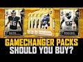 RIPPING A TON OF GAMECHANGER PACKS FOR PRIMETIME PERFORMERS | ARE THEY WORTH IT? | MUT 19