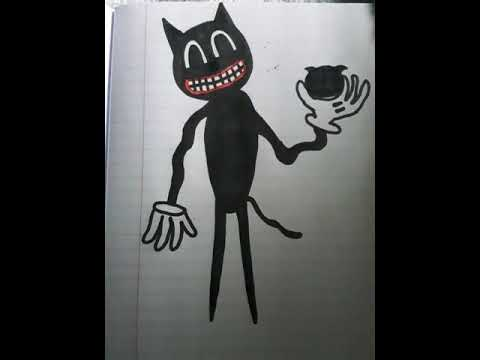 My Drawing Of Cartoon Cat From Trevor Henderson Youtube