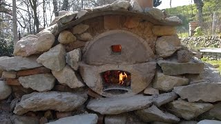 Ep8 - 1/3- Four pain, pizza...gratuit / free homemade wood fired pizza/bread oven