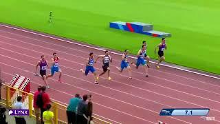 Чемпионат России-2018. 100 метров. Мужчины. Финал
