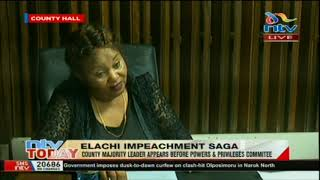 MCA Mary Njambi appears before Powers & Privileges Committee over Elachi's impeachment saga