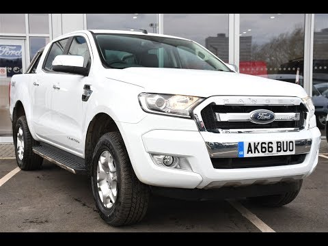 Ford Ranger White 2017 >> Used Ford Ranger Pick Up Double Cab Limited 2 2 Tdci 150 4wd White