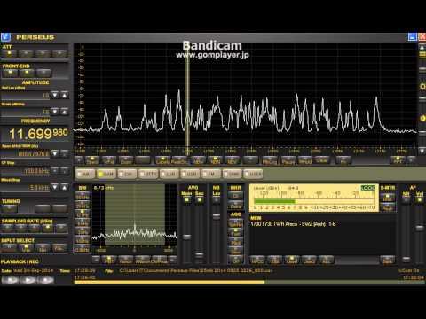 11699.98 kHz TWR Swaziland / Sep. 24, 2014 1730 UTC