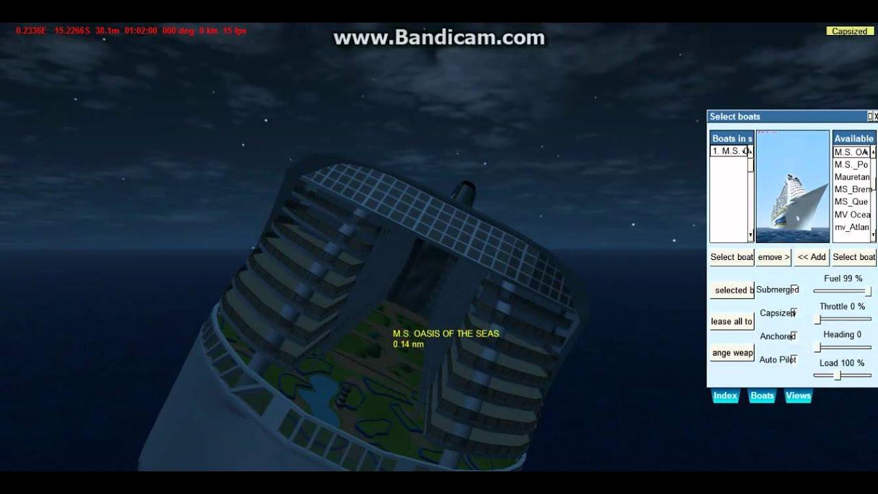 Virtual Sailor Oasis Of The Sea Youtube