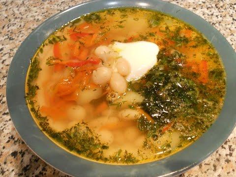 Постные блюда  Супик с фасолью!