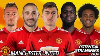 MANCHESTER UNITED - POTENTIAL TRANSFER & RUMOURS SUMMER 2018   Ft. BENZEMA,DYBALA,UMTITI,WILLIAN...