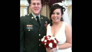 Military man and his bride