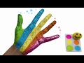Learn Colors Body Paint & Finger Family Nursery Rhymes