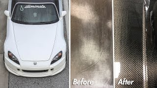 CHEAP S2000 Carbon Fiber Hardtop Repair! AMAZING RESULTS!!!