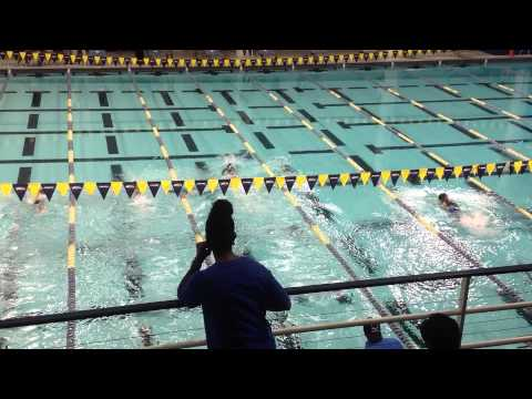 2014-07-12 DeKalb County Championships - 8U 25 freestyle - Nasir