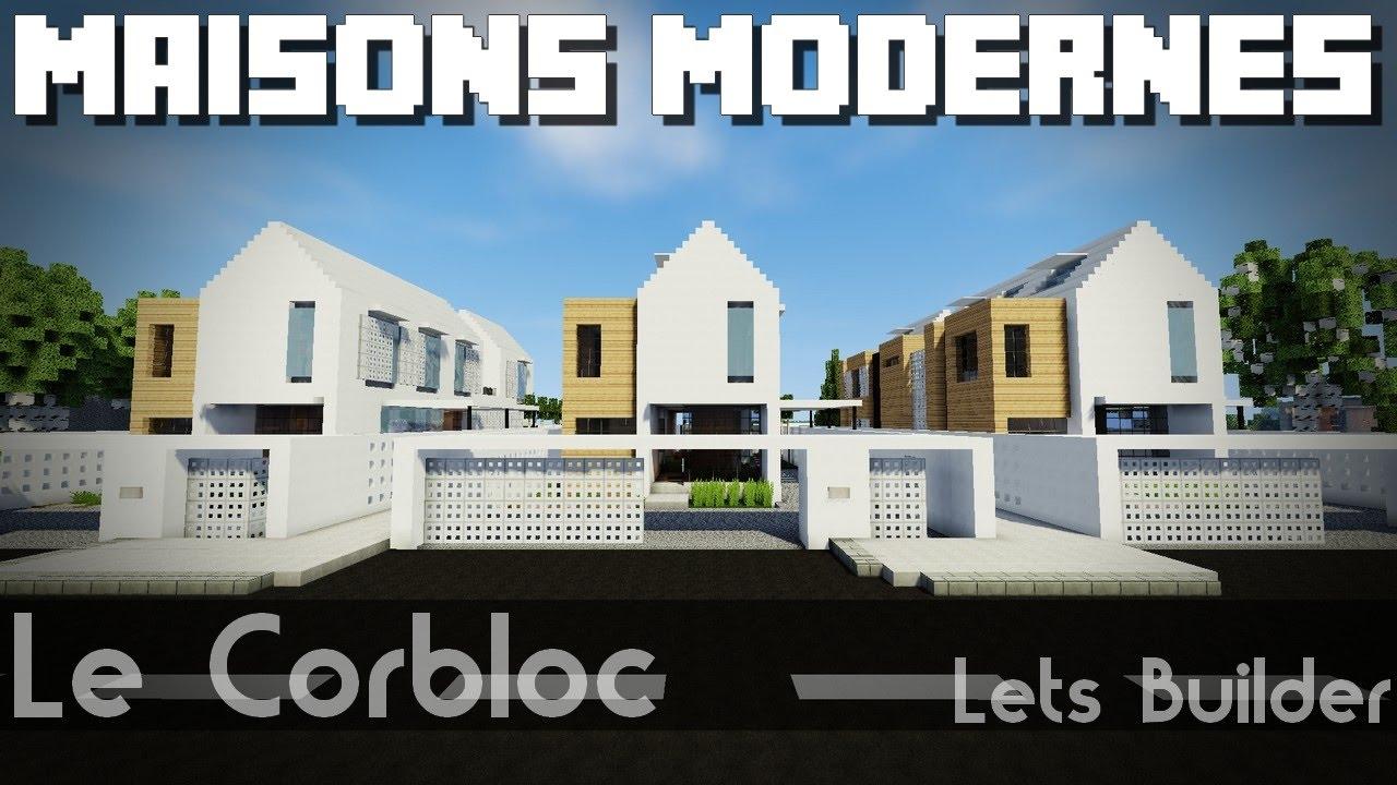 Minecraft - 3 Maisons modernes | 3 Aménagements - YouTube