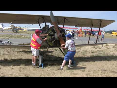 Le Rhone Rotary Engine Startup on 1917 Thomas-Morse Scout