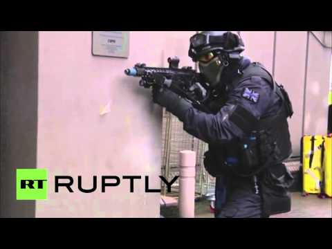 Paris attacks style: London police hold anti-terror drills