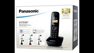 Panasonic KX-TG1611 DECT PHONE - UNBOXING