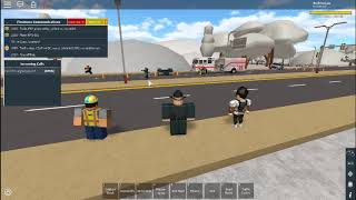 Roblox: Stapleton County Fire Dept. Battling a Car Fire near the FSP Redwood HQ