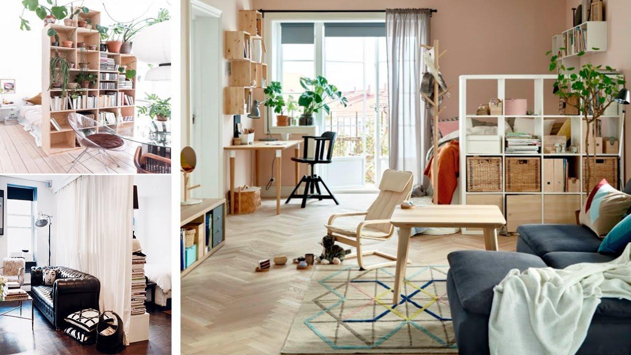 Ikea Room Divider Ideas Hacks For Small Studio Apartment Youtube