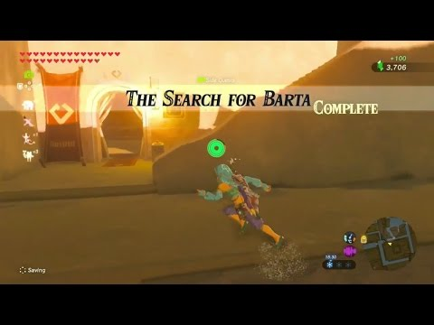 Zelda: Breath of the Wild | The Search for Barta Side Quest - Wasteland Tower Region