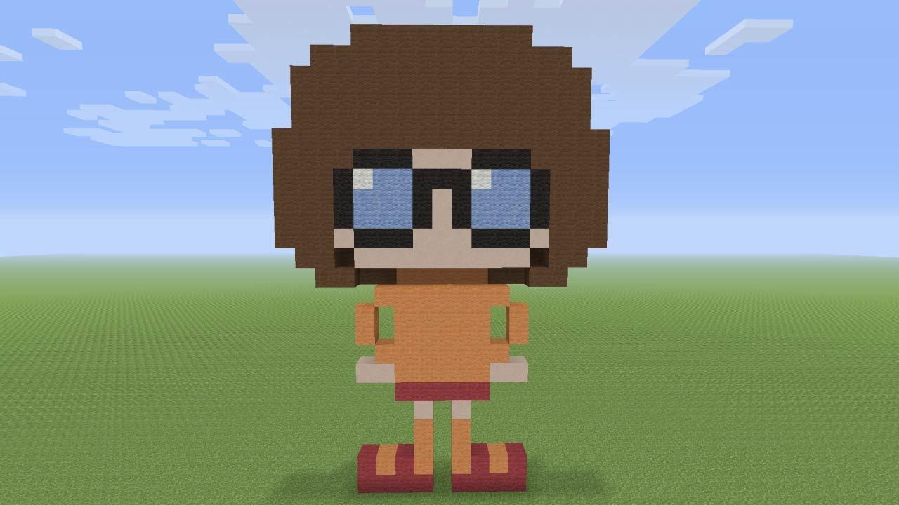 Minecraft Pixel Art - Velma from Scooby Doo - YouTube