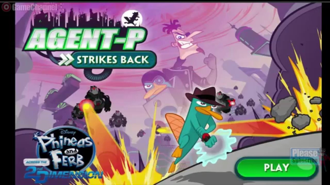 Phineas And Ferb Agent P Strikes Back Disney Games Online