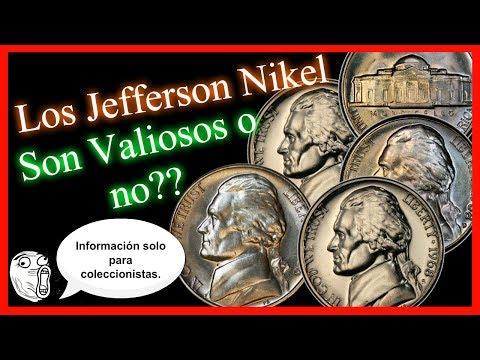 Monedas de 5 centavos de colección- Jefferson Nikel de 1966- 2003 - Precios de monedas normales.