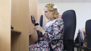 """Ирина Пегова во время съемок фильма """"Первоклашки"""" в Севастополе"""
