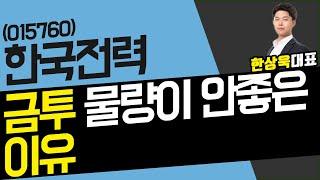 한국전력(015760) - '금투' 물량…