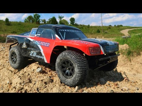 BRUSHLESS $160 1/10 ZD Racing SCT 4WD Bashing 'Till It BREAKS - TheRcSaylors