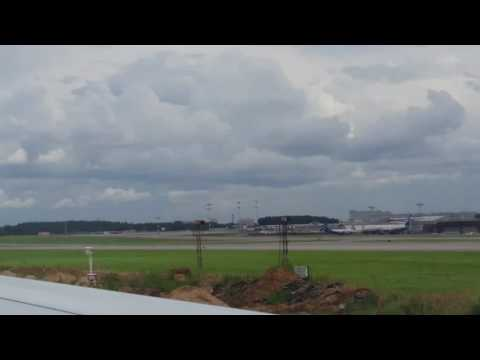 SVO (Sheremetyevo International Airport, Moscow) Sukhoi Superjet 100 landing 4K