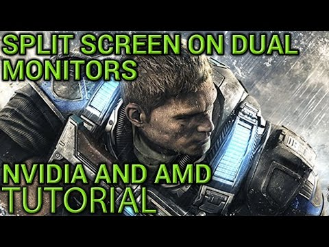 Gears Of War 4 Split Screen with 2 Monitors on PC Tutorial - Works on NVIDIA and AMD GPUs