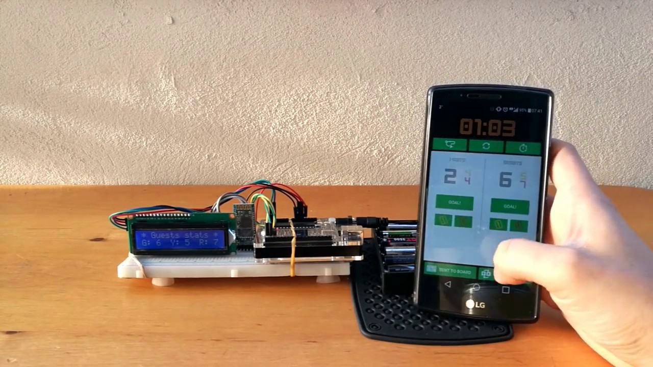 Udacity | Score Keeper App + Arduino UNO + LCD + Bluetooth communication by  Codexter
