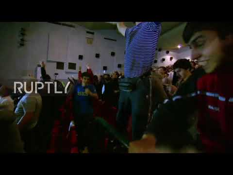 Russia: Fans Go Wild After Khabib Defeats McGregor Via 4th Round Submission