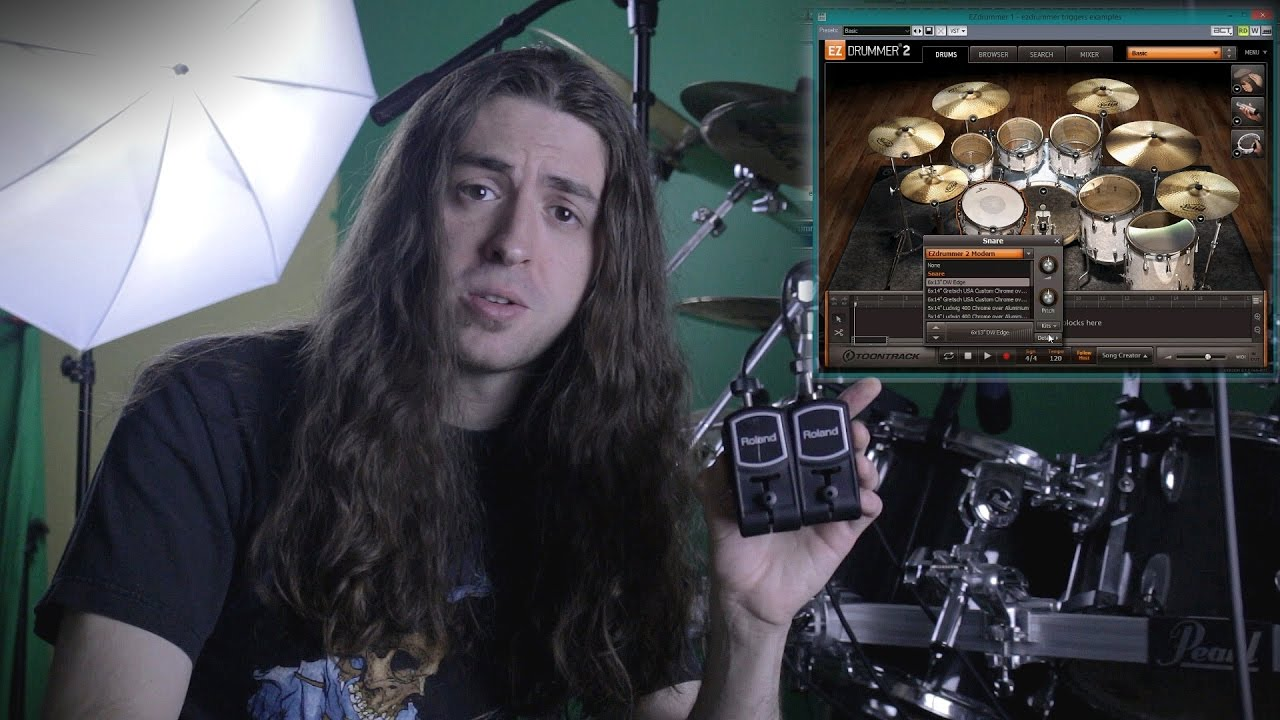 how to use drum triggers with ezdrummer youtube. Black Bedroom Furniture Sets. Home Design Ideas