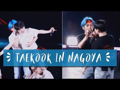 taekook backhug, tae holding jk by his waist || taekook nagoya moments d-1&2