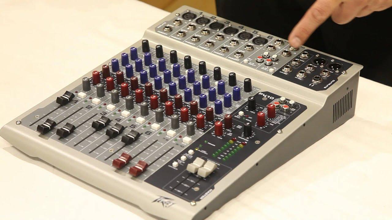 Peavey PV Series Compact Portable Live SoundStudio Mixer