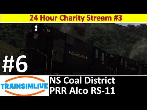 24 Hour Stream S03E06 - NS Coal District, PRR Alco RS-11
