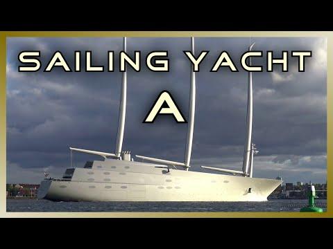 "The World's largest SAILING YACHT ""A"" | Port of Kiel | 4K Ultra HD"