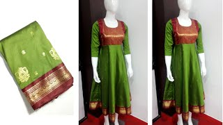 Annarkali From Old Saree So Easy To Make