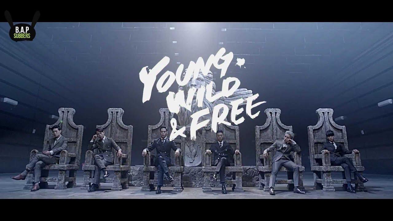 [ENG SUB + LYRICS] B.A.P - Young, Wild & Free MV - YouTube