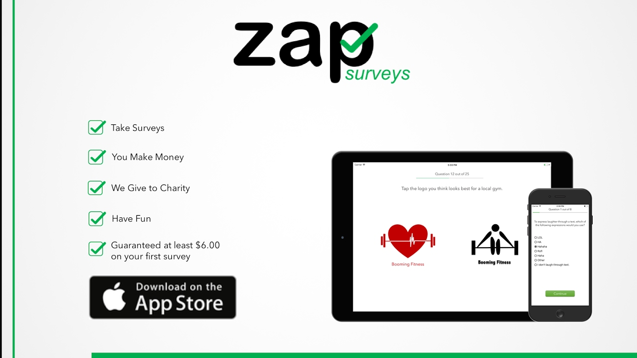 Zap Surveys | Take Surveys, Make Money, All from your iPhone or Android