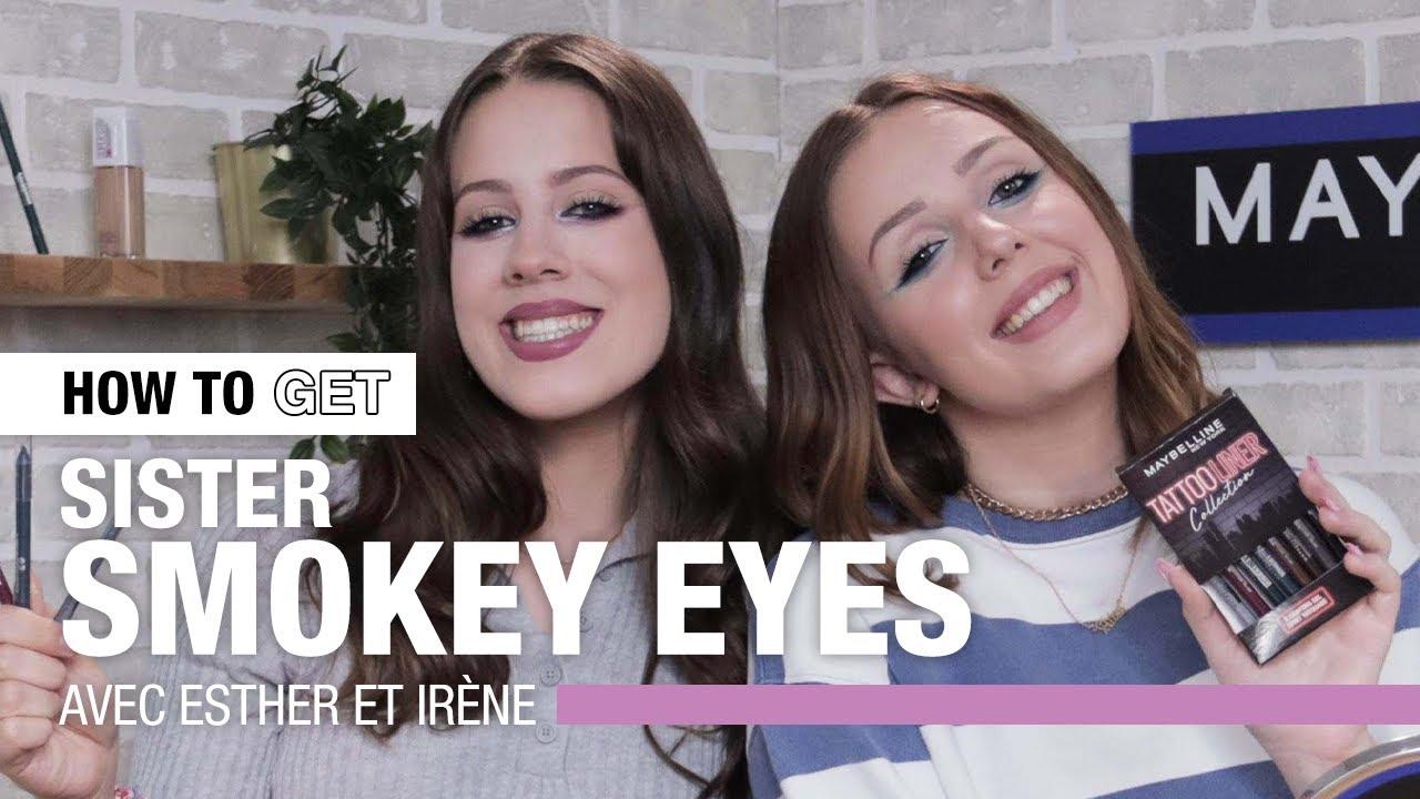 Un SMOKEY EYES coloré pour HALLOWEEN avec ESTHER et IRÈNE 🎃 | HOW TO GET | Maybelline New York FR