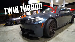 BMW M5 owner wanted to race my Whipple Mustang GT!