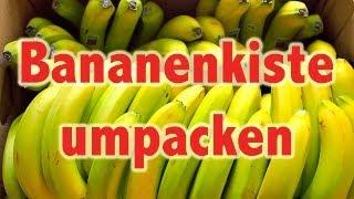 Vegane Rohkost - Bananenkiste umpacken für Profis [VEGAN]
