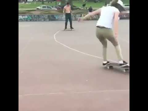 2021 TIKTOK Longboard Skateboard fashion show with boy and girl #Short