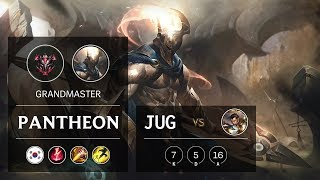 Pantheon Jungle vs Xin Zhao - KR Grandmaster Patch 9.16
